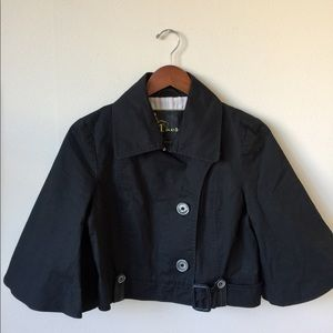 Mackage Cropped Trench Jacket Size M